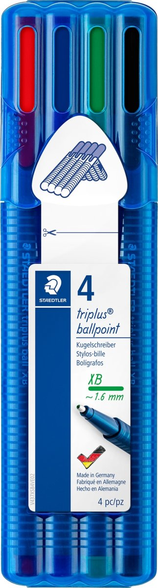 Staedtler Triplus Ball Kuglepen XB, 4 stk.