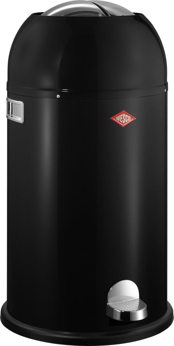 Wesco Kickmaster Pedalspand, 33 L, sort