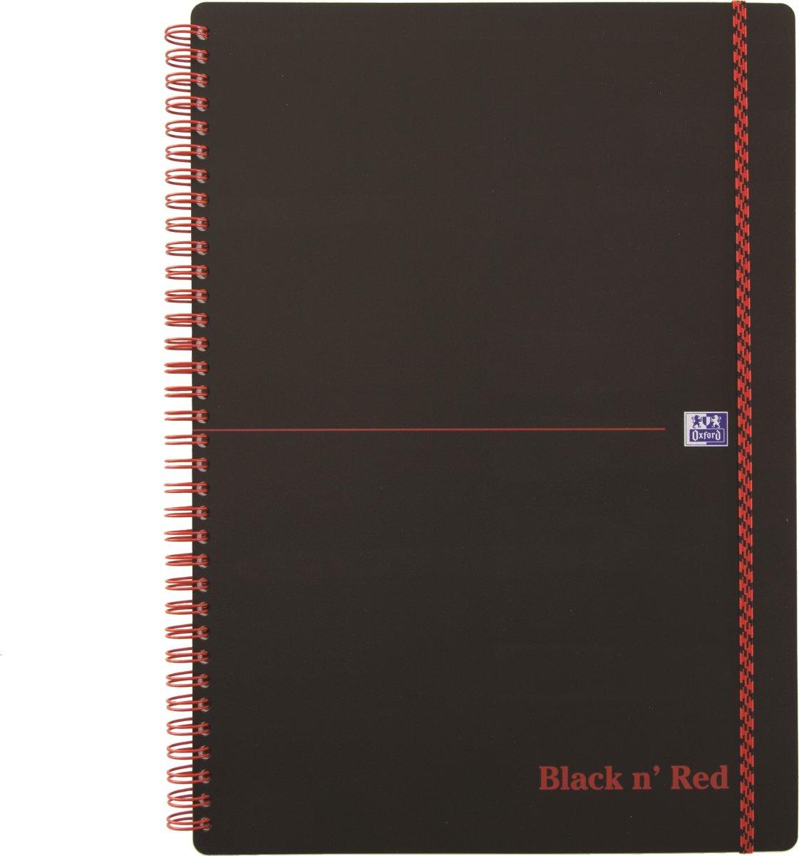Oxford Black n'Red Notesbog A4, linjeret