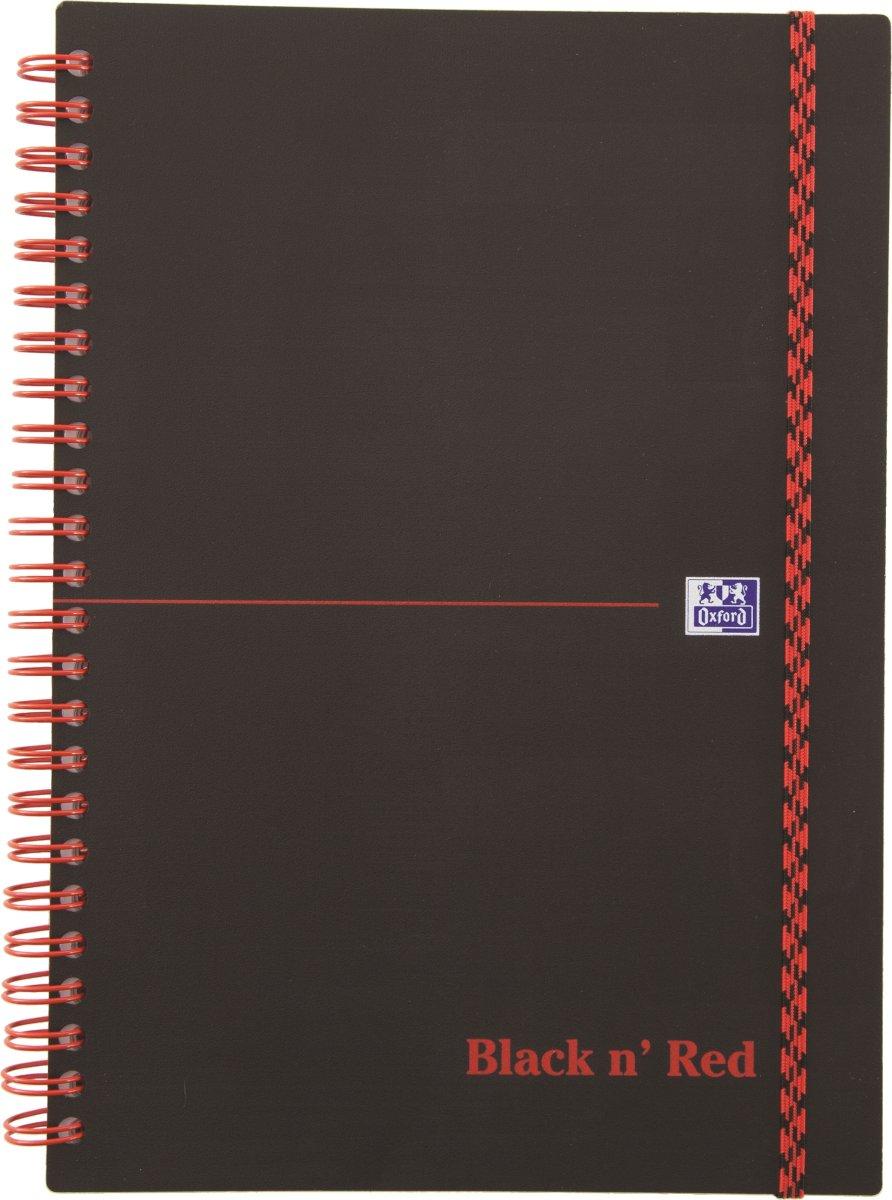 Oxford Black n'Red Notesbog A5, linjeret