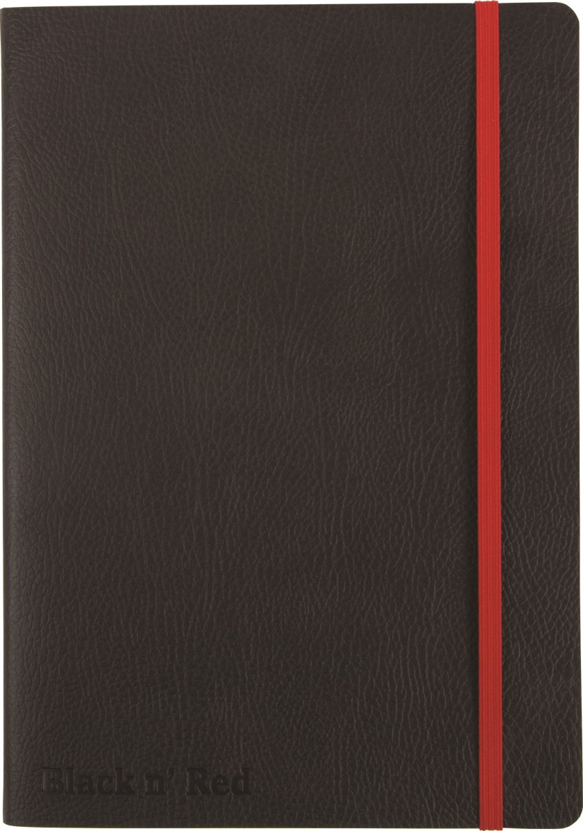 Oxford Black n'Red Soft Notesbog A5, linjeret