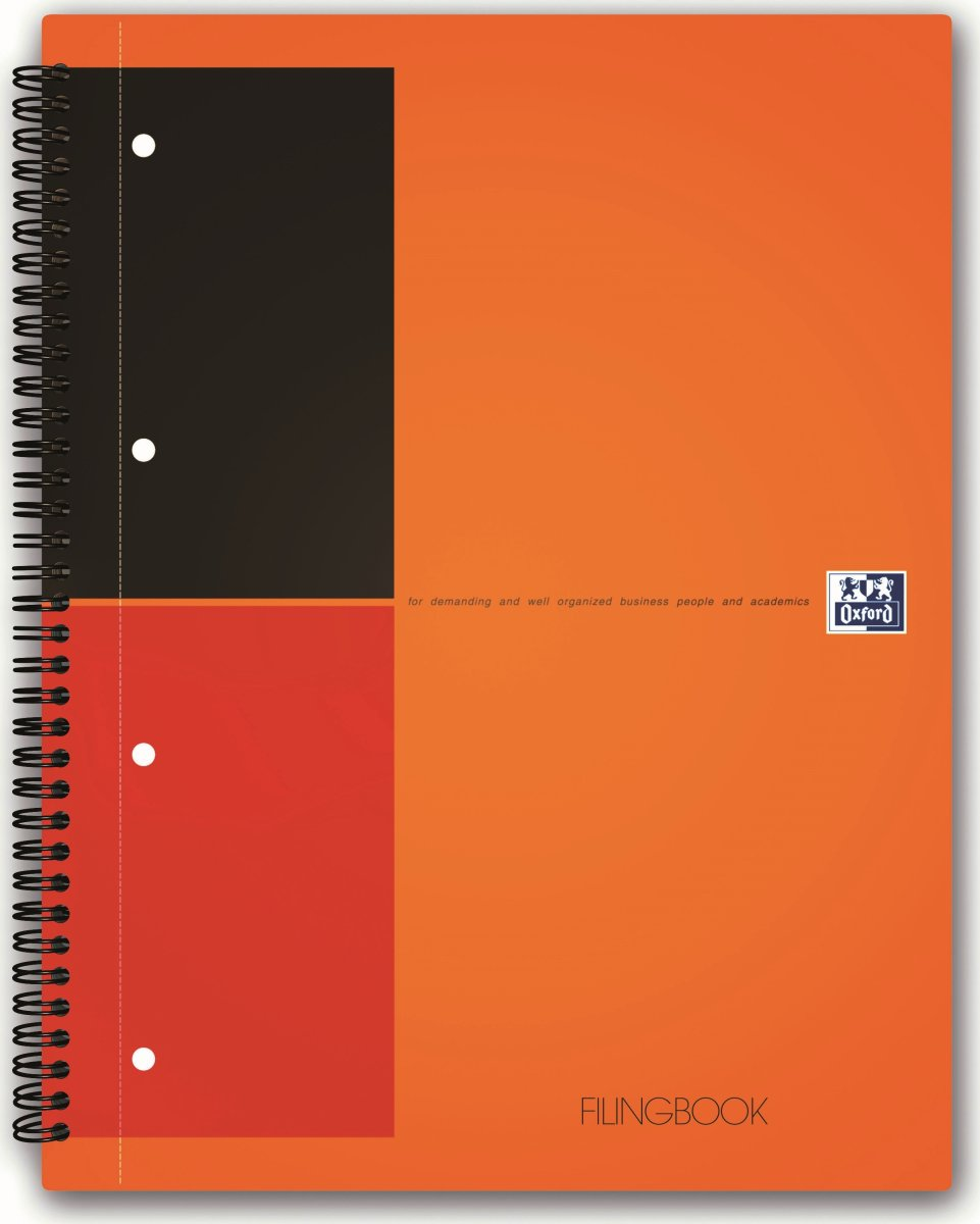 Oxford International FilingBook, A4+, linjeret