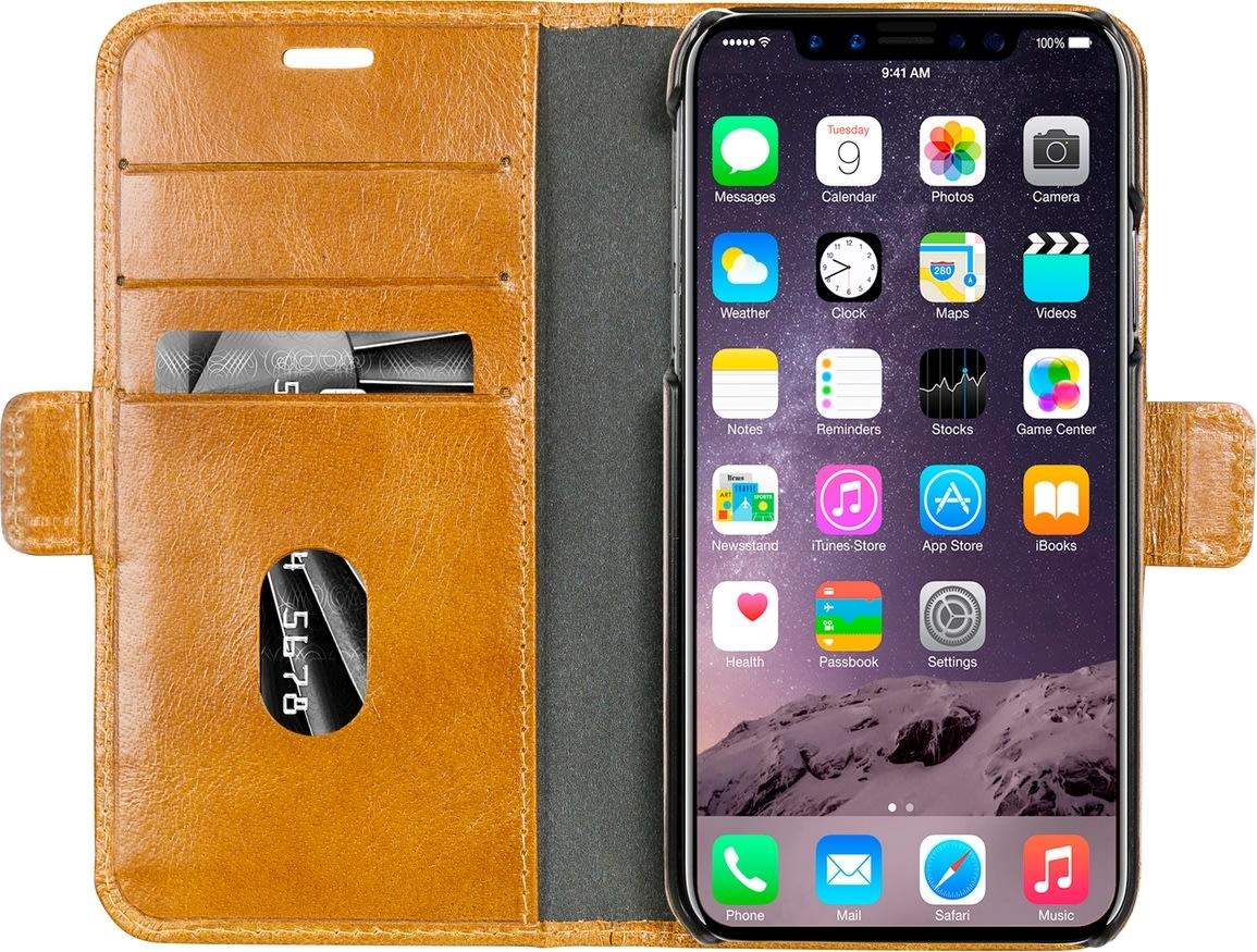 dbramante1928, lædercover, iPhone X/Xs, Golden Tan