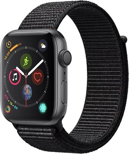 Apple Watch Series 4 GPS, 44mm grå med sport loop