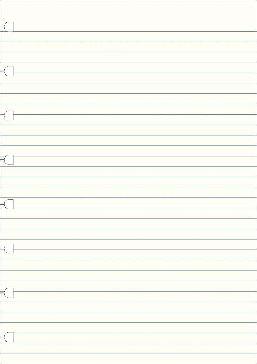 Filofax Linjerede blade A5 til Byg-Selv notesbog