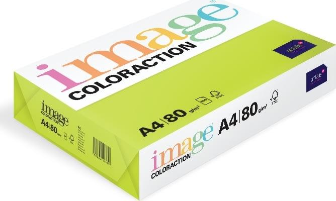 Image Coloraction A4, 80g, 500ark, limegrøn