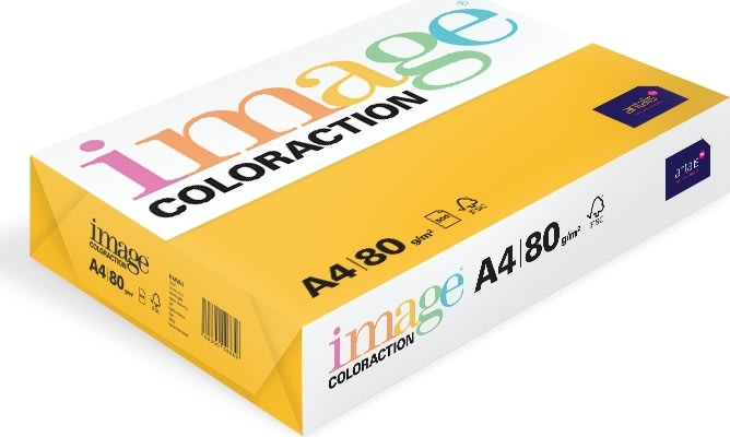 Image Coloraction A4, 80g, 500ark, solgul