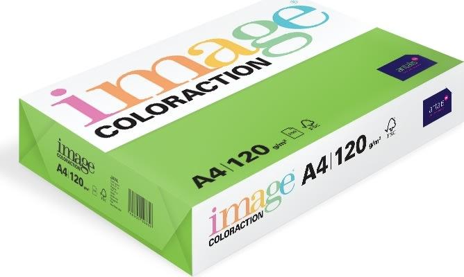 Image Coloraction A4, 120g, 250ark, limegrøn