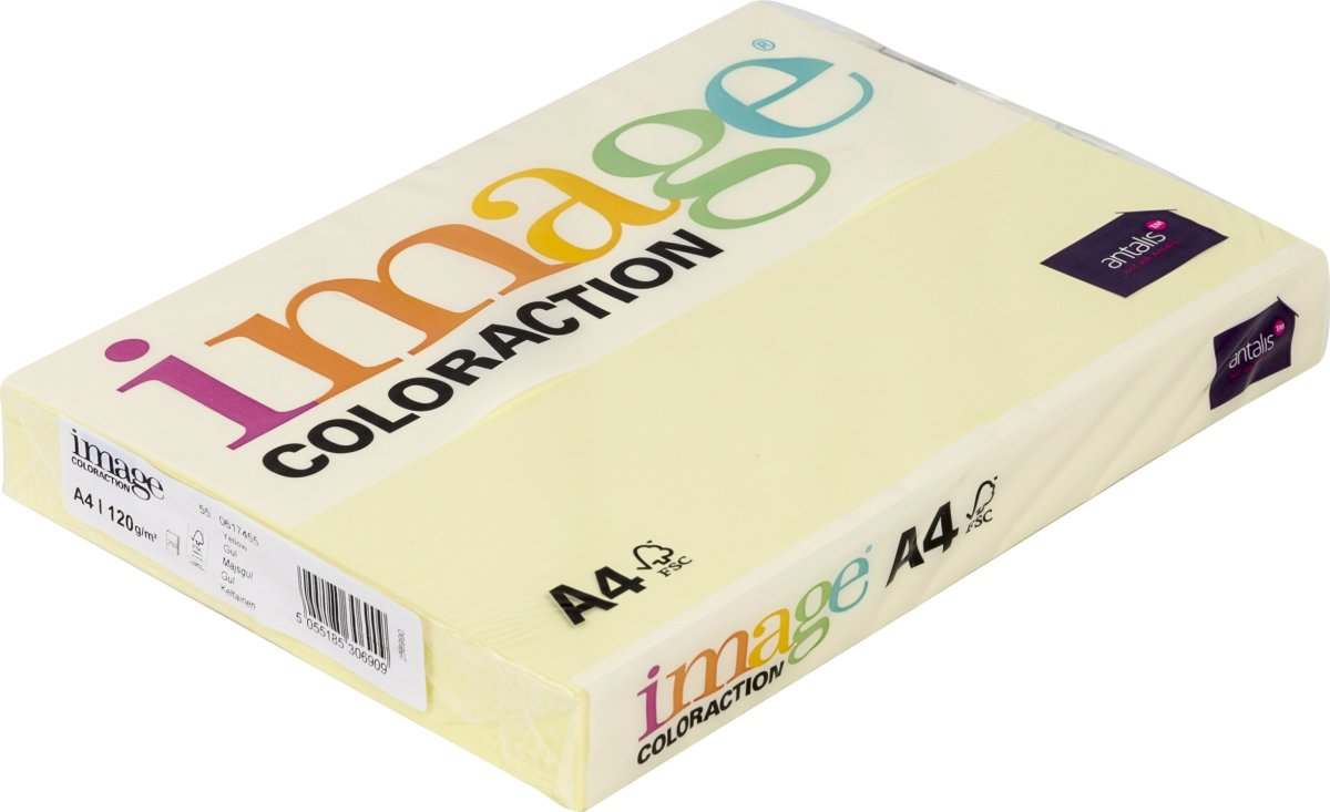 Image Coloraction A4, 120g, 250ark, majsgul