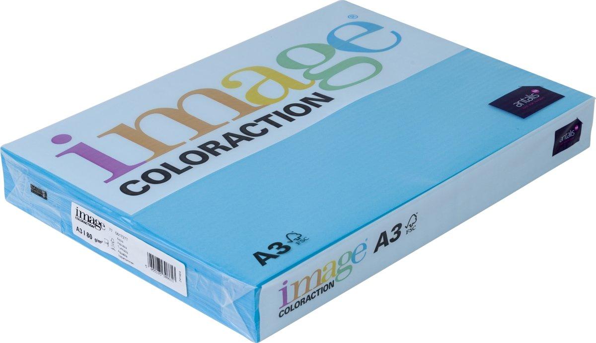 Image Coloraction A3, 80g, 500ark, turkisblå