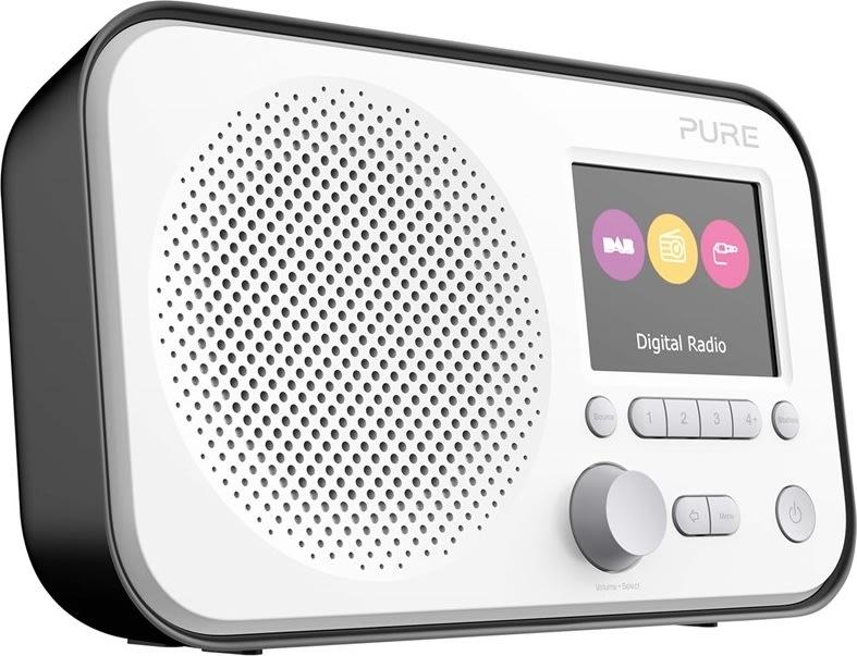PURE Radio Elan E3 med FM/DAB/DAB, sort
