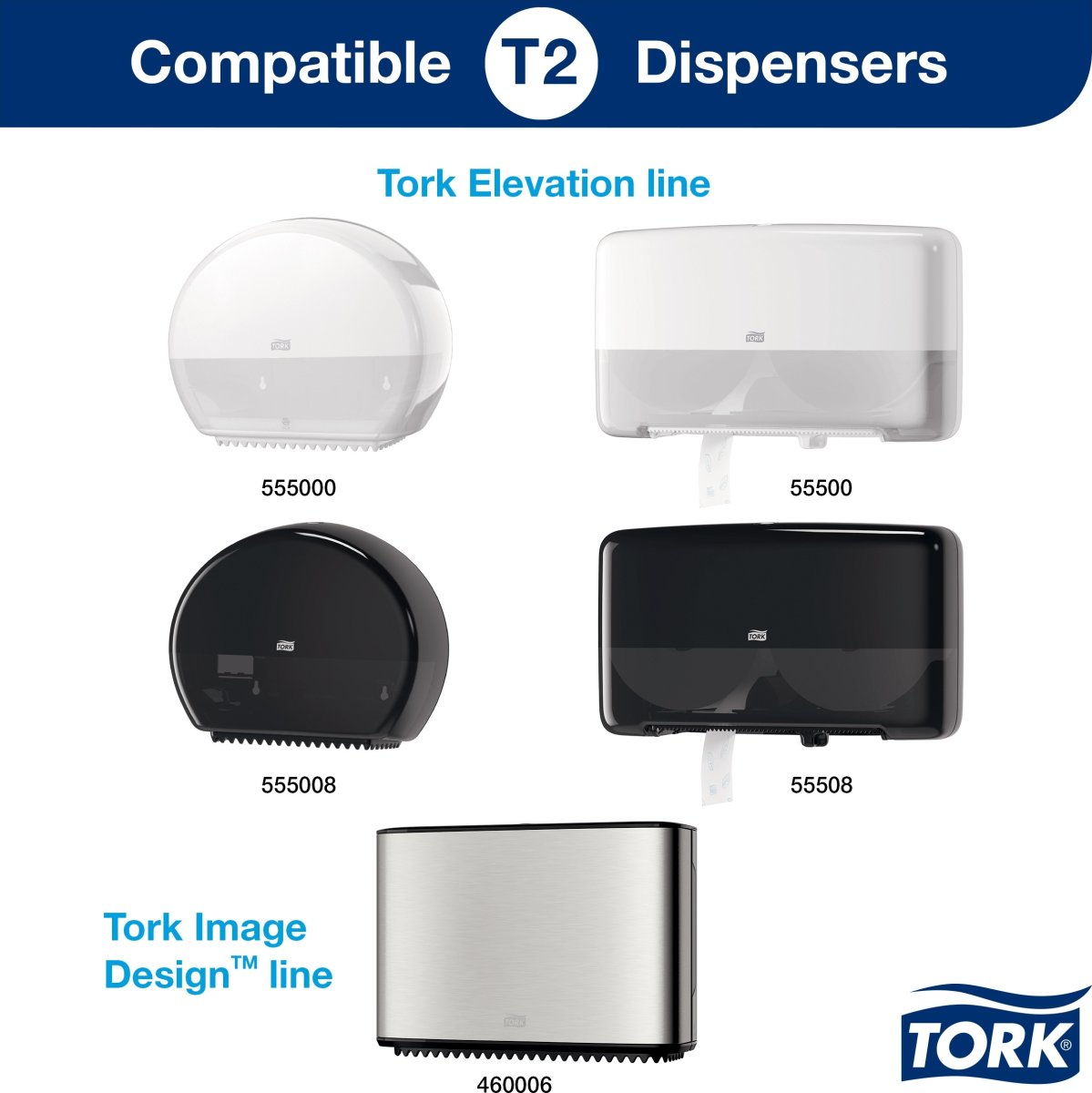 Tork T2 Advanced Jumbo toiletpapir, 2-lags