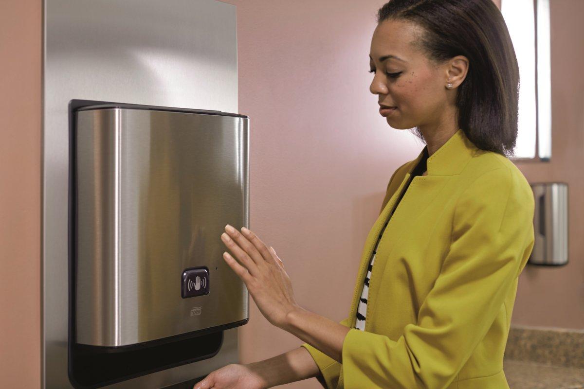 Tork H1 Dispenser Håndklædeark m. sensor, stål