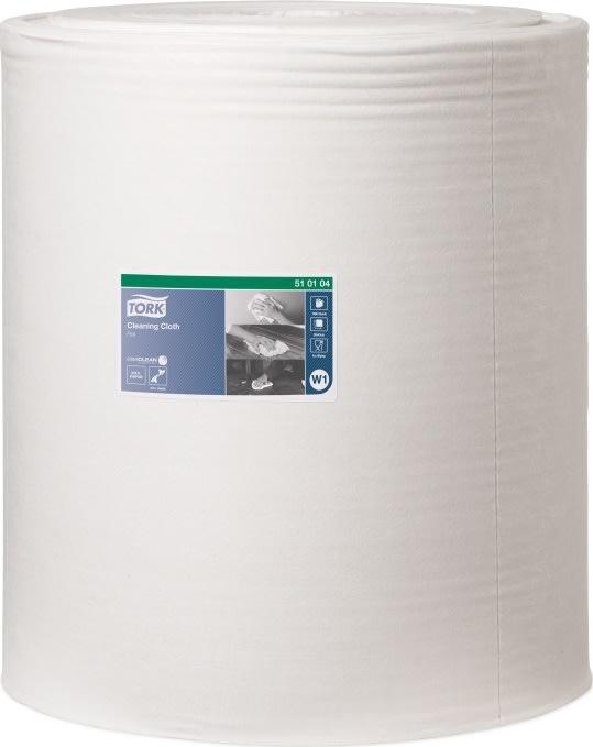 Tork Aftørringsklud, W1, 1 rulle, hvid