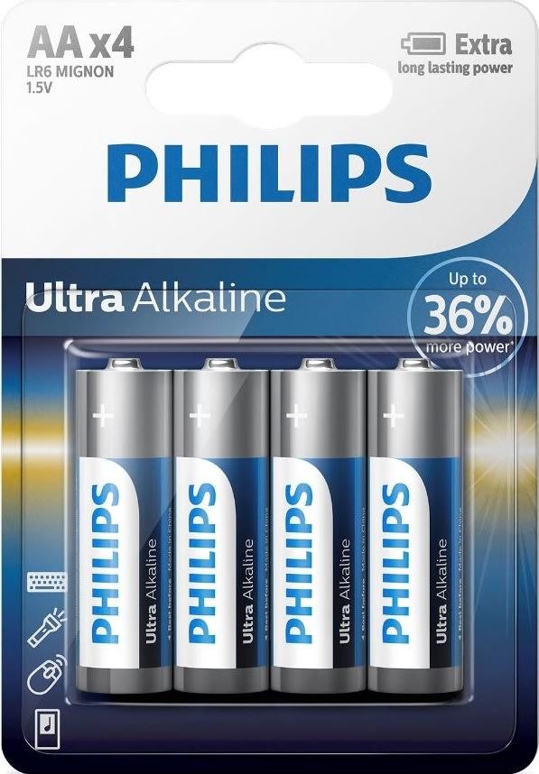 Philips Ultra Alkaline Batterier str. AA
