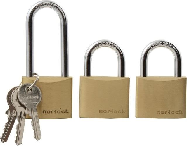 Nor-Lock Hængelås 40 mm, 3 stk