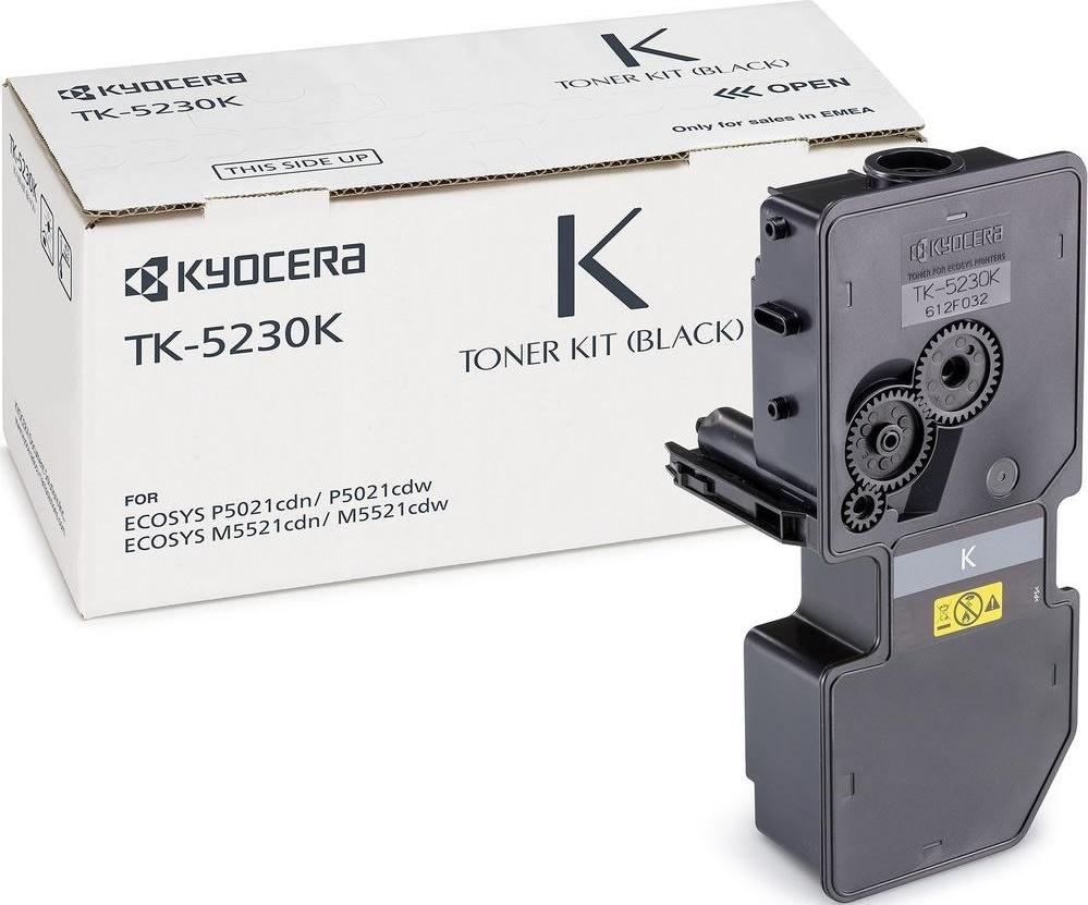 Kyocera TK-5230K lasertoner, sort, 2600s