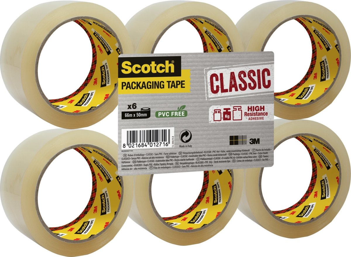 3M Scotch Pakketape 50 mm, PP, klar