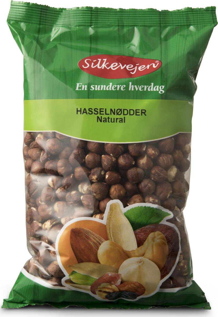 Silkevejen Hasselnødder, natural, 1 kg