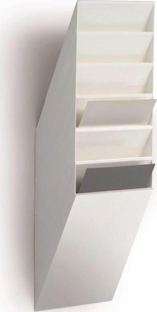 Flexiboxx blanketholder, lodret, 6 bakker, hvid