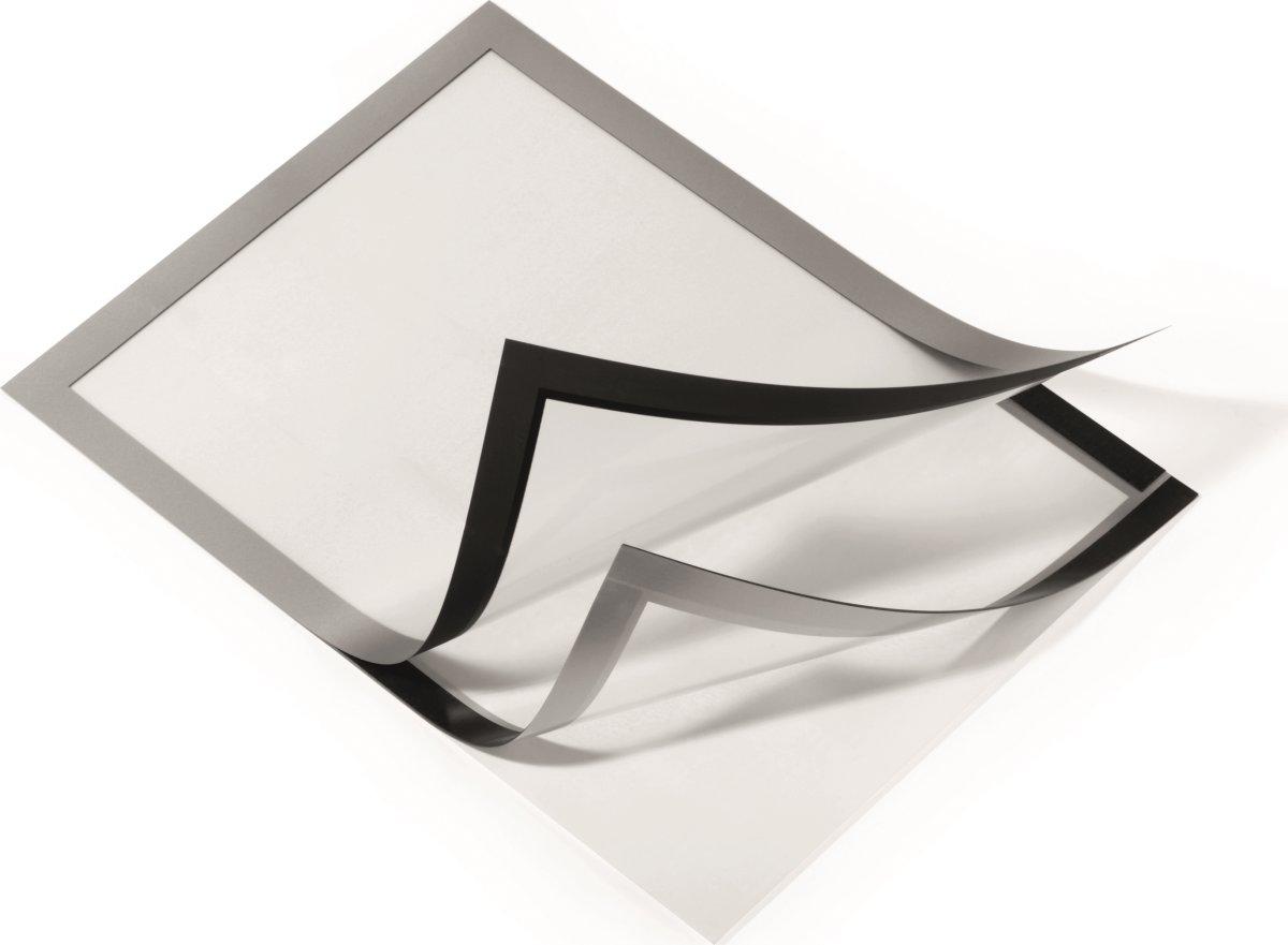 Durable Selvklæbende Inforamme A3, sølv, 6 stk.
