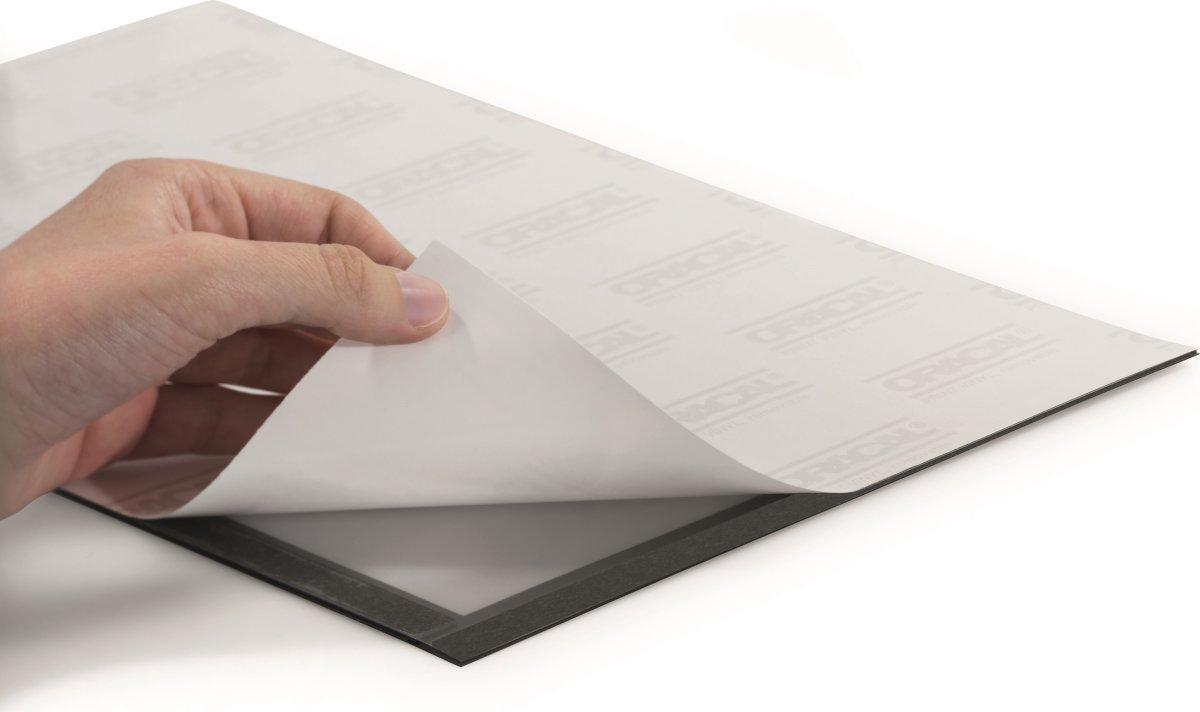 Durable Selvklæbende Inforamme A5, sølv, 2 stk.
