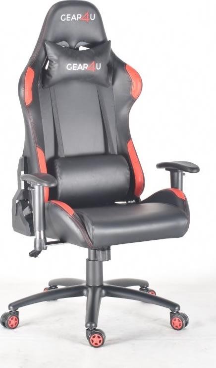 Gear4U Elite Pro gamerstol, sort/rød