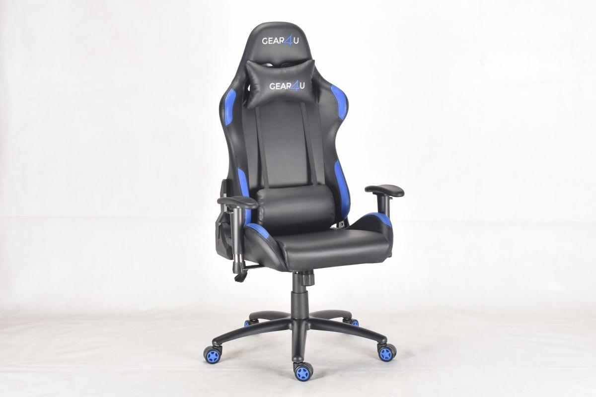 Gear4U Elite Pro gamerstol, sort/blå