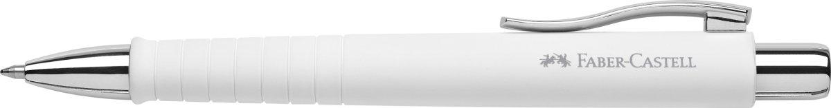 Faber-Castell Poly Ball XB kuglepen, hvid
