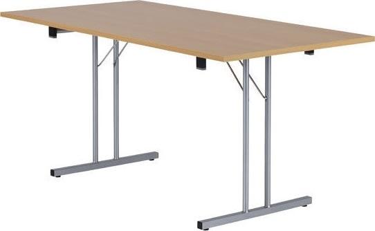 Bord med klapstel 70x140 cm, bøg melamin