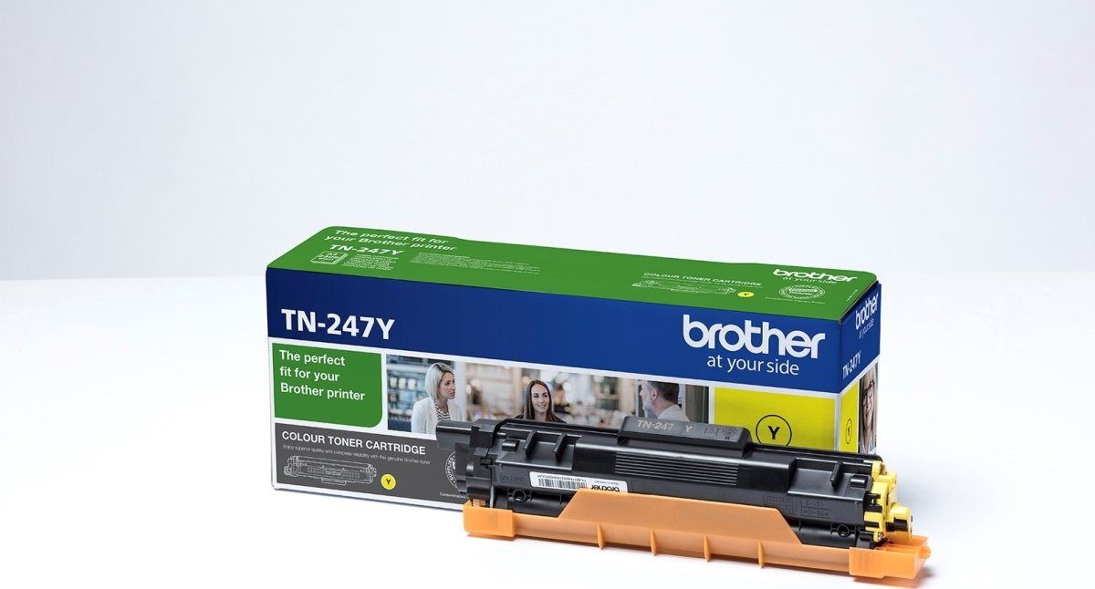 Brother TN-247Y lasertoner, gul, 2.300 sider