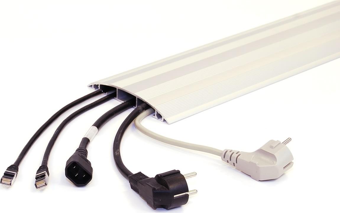 Gulvkanal til ledninger, 2m, alu