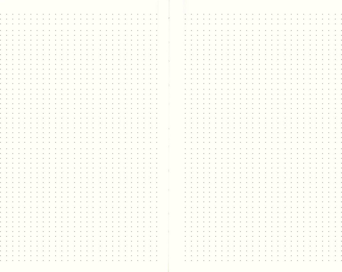 Mayland DotNotes Notesbog A5, tekstilpræg, blå