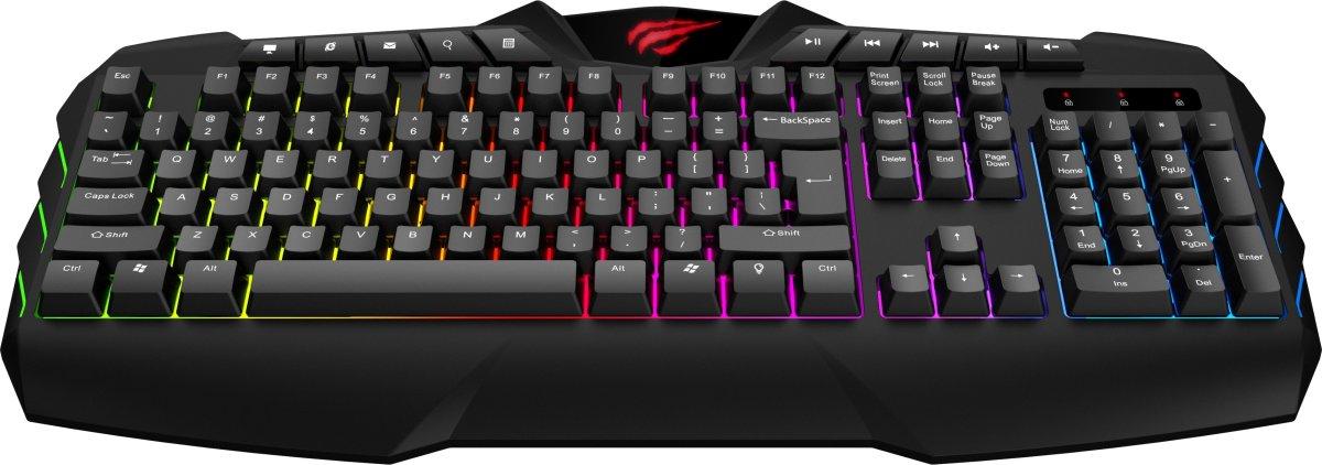 Havit KB465L baggrundsbelyst gaming tastatur