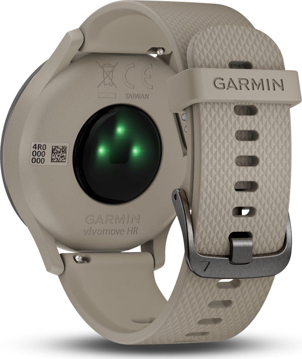 Garmin vívomove™ HR, Sport, sort m. sandfarvet rem
