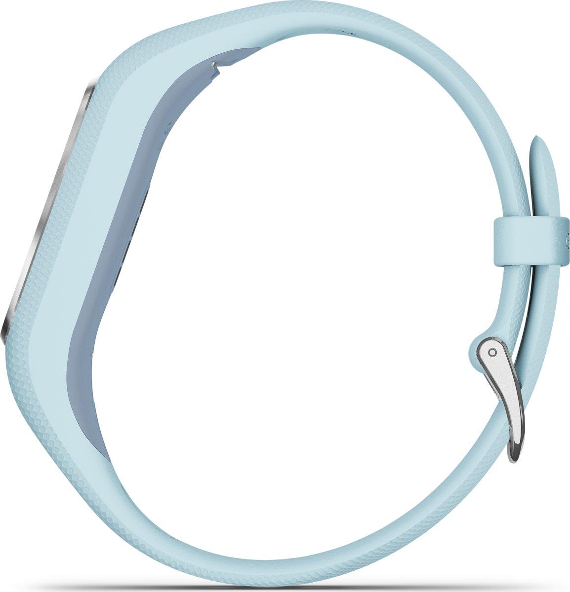 Garmin vívosmart® 4, sølvfarvet med azurblå