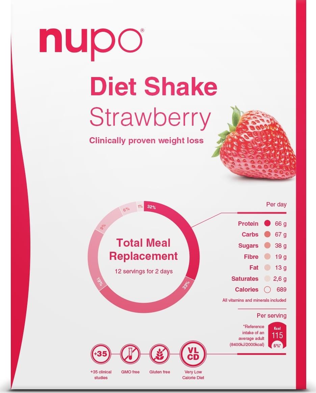 Nupo Diet shake jordbær, 384g