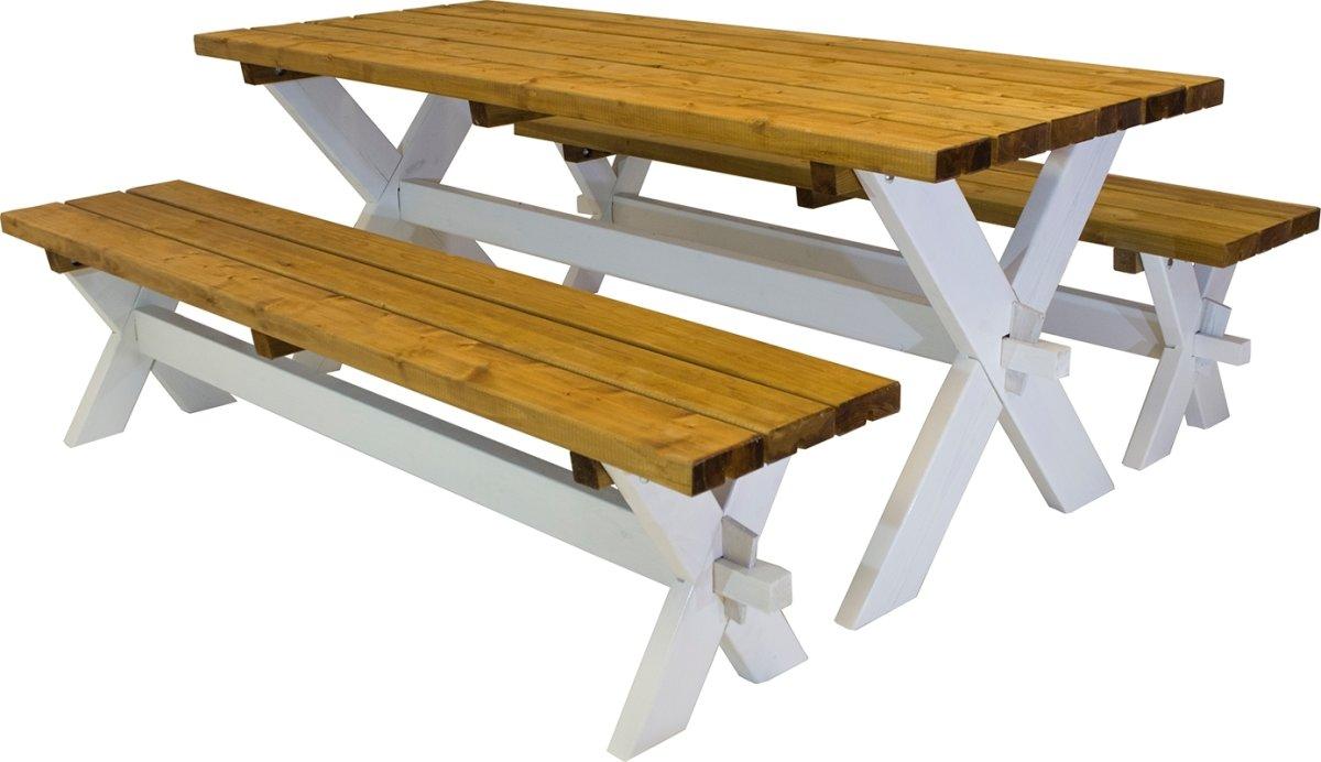 Plus Nostalgi Plankesæt, Hvid/Brun, 177 cm