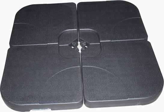 Parasolfod plastik m/håndtag, sæt af 4