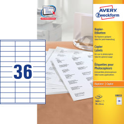 Avery 18033 kopietiketter, 24 x 70mm, 3600stk