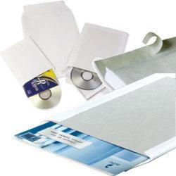 Bong kuvert med papbagside A4, 250 x 353mm, hvid
