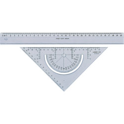 Linex 2602 skolesæt m. lineal og geometritrekant