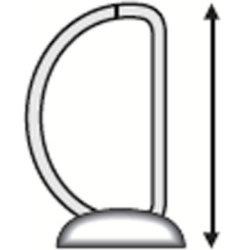 Esselte Indstiksringbind A4, 4 DR, 86 mm, hvid