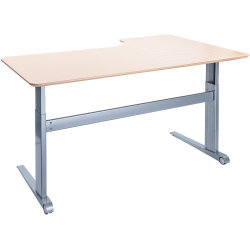 STEADY hæve/sænkebord 180 cm venstrevendt, bøg