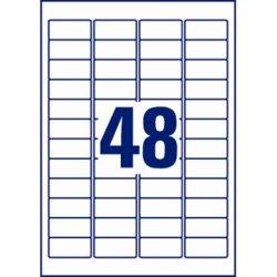 Avery L6113-20 plomb.etiketter, 45,7 x 21,2mm
