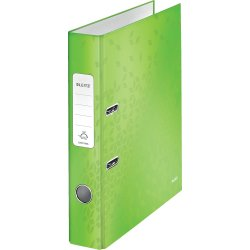 Leitz 180 WOW brevordner A4, 50mm, lime