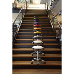 CL Pilates Air Seat, hvid, kunstlæder, 52-71 cm