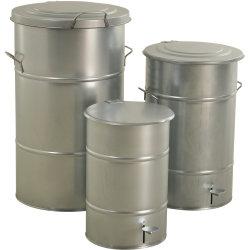 RETRO affaldsbeholder 115 l, Galvaniseret