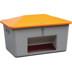Salt-/sandbeholder, Tough, 550 L,Bundåb,Grå/orange