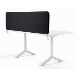 Softline bordskærmvæg sort B2000xH450 mm